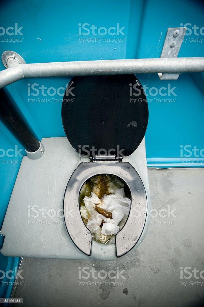 Outhouse Toilet stock photo