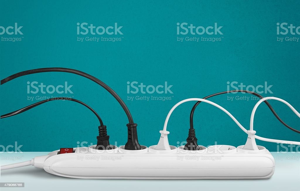 Outlet, Electric Plug, Power Cable stock photo
