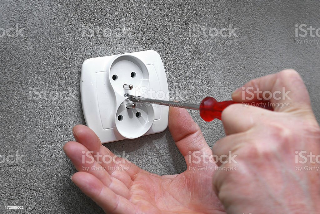 Outlet royalty-free stock photo