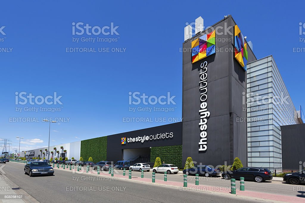 Outlet shopping in Madrid royalty-free stock photo