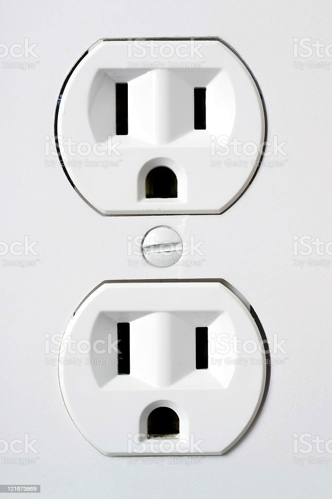 outlet up close royalty-free stock photo