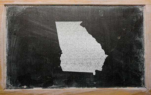 Georgia Map Pictures Images And Stock Photos IStock - Modern map of georgia us