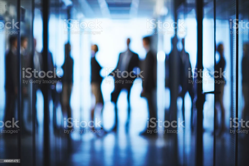 Outlines of business group stock photo