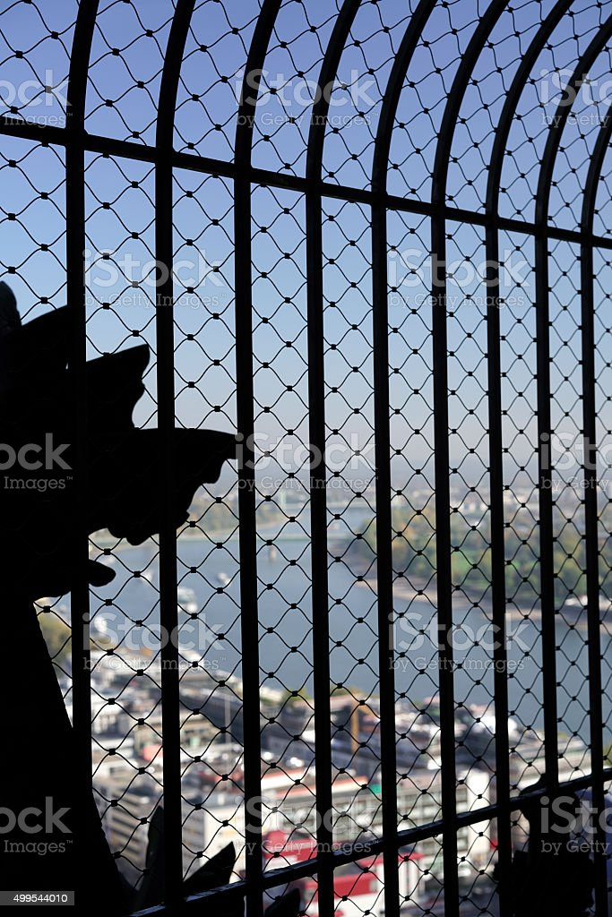 Outlook from the Cologne Cathedral stock photo
