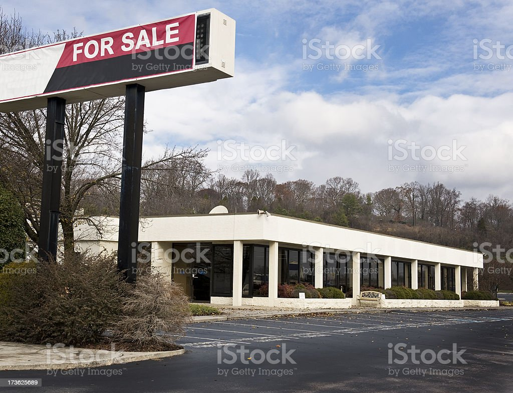 Out-of-Business Auto Dealership royalty-free stock photo