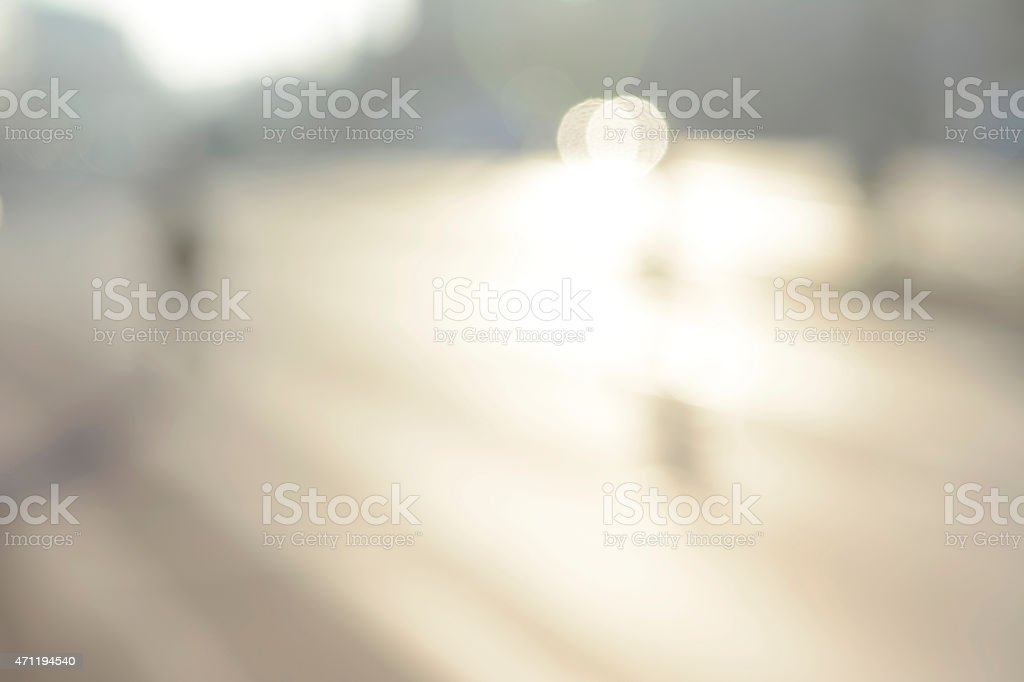 Out-of-focus photograph of a sunny exterior stock photo
