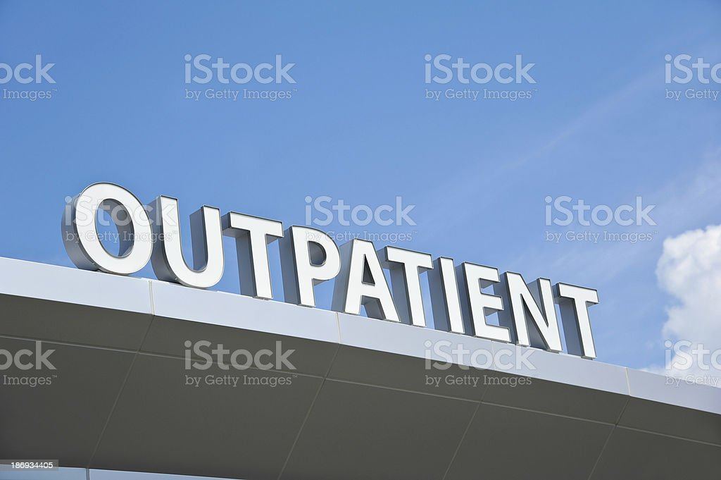 Outpatient Sign stock photo
