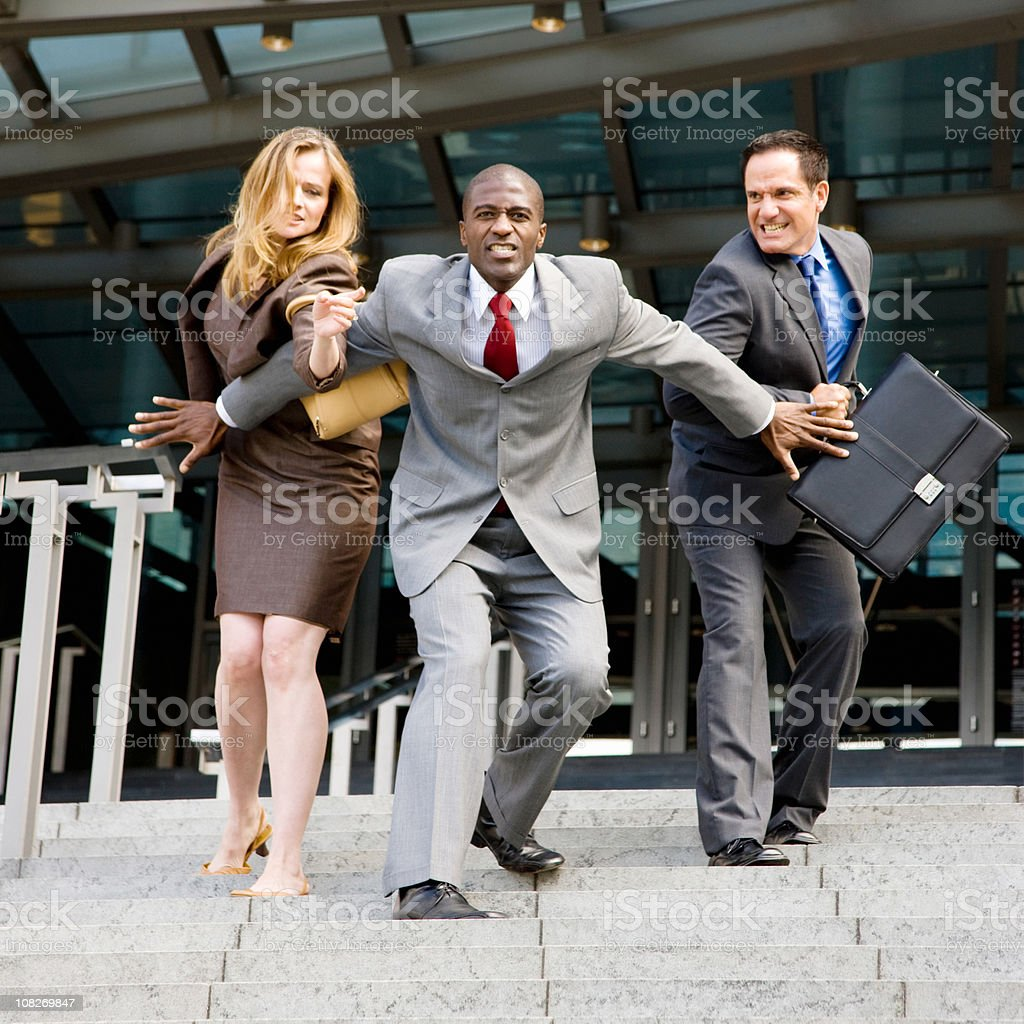 Outraged Business Competition royalty-free stock photo