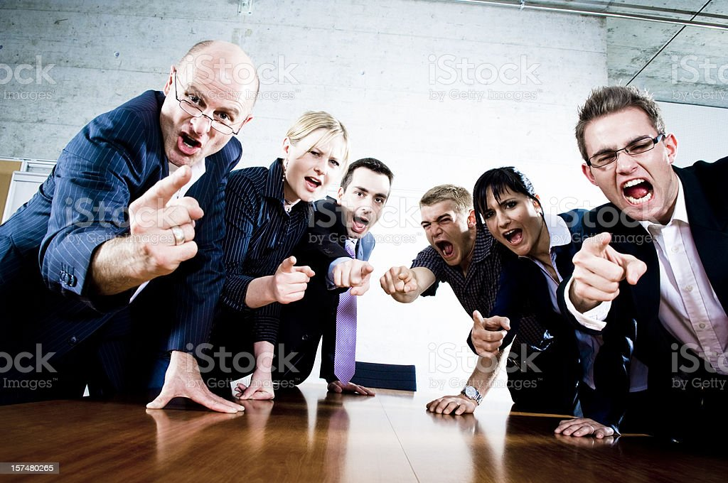 Outraged Business People stock photo