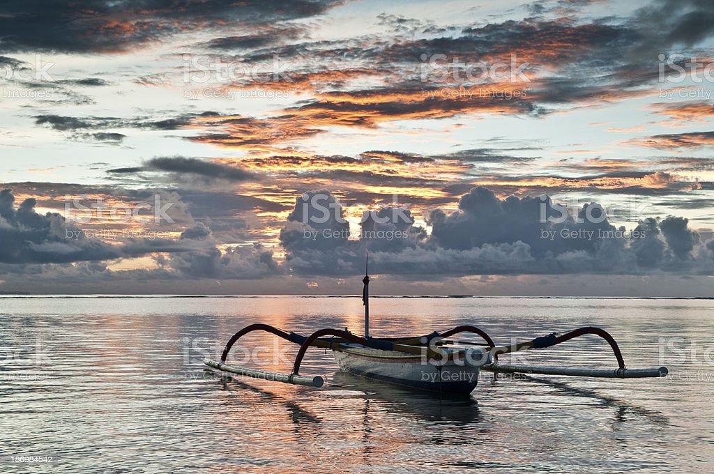 Outrigger, Bali Sunset stock photo