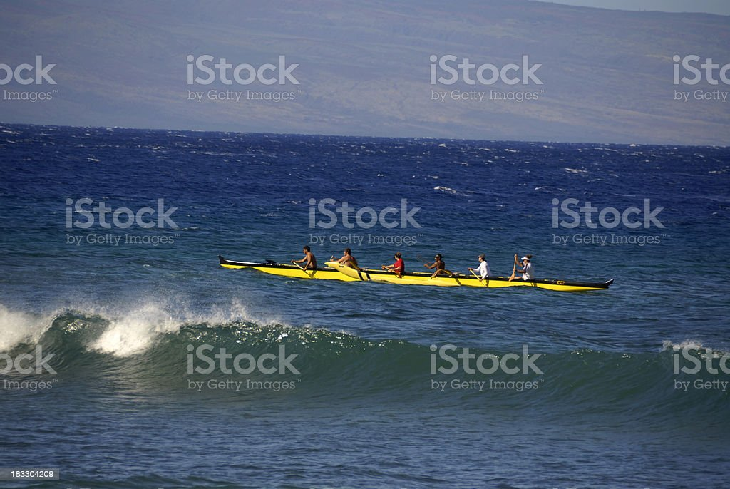 Outrigger Canoe, Boating stock photo