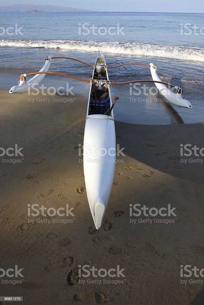 Outrigger Canoe stock photo