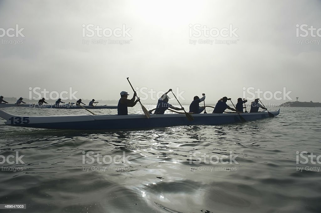 Outrigger Canoe Race stock photo