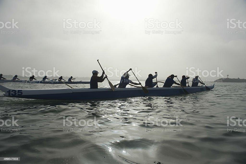 Outrigger Canoe Race stock photo