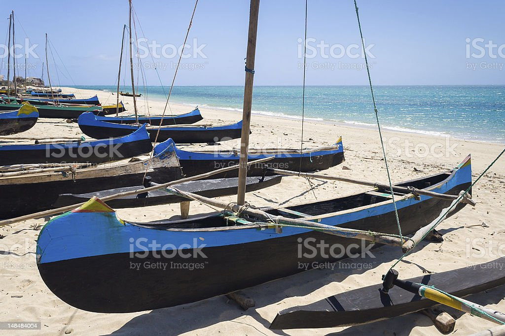 Outrigger canoes royalty-free stock photo