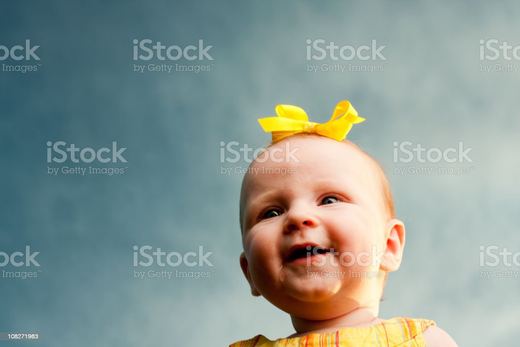 Outside Baby Girl Series royalty-free stock photo