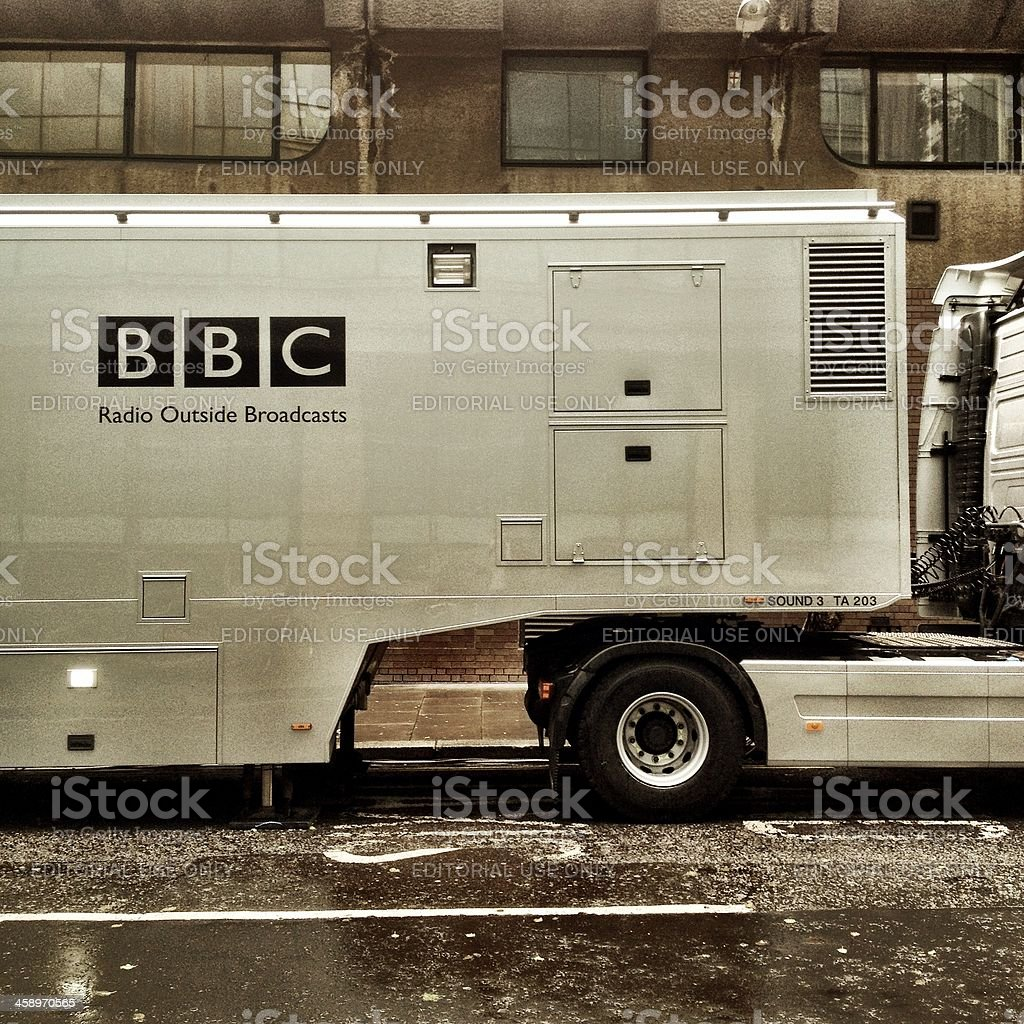 BBC Outside Broadcast truck stock photo