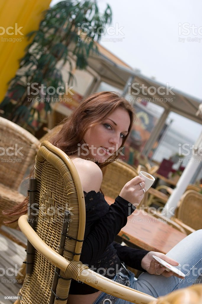 outside cafe royalty-free stock photo