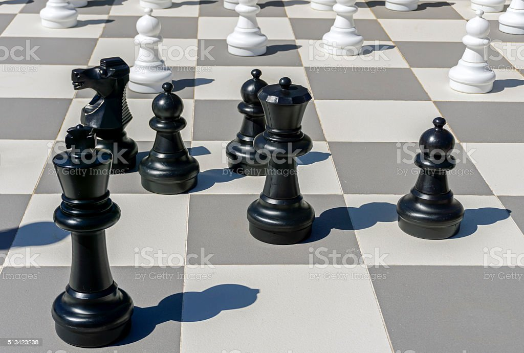 Outside Chess Board stock photo