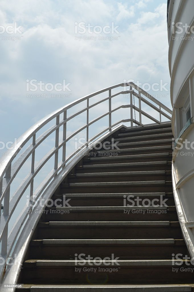 Outside curved staircase. stock photo