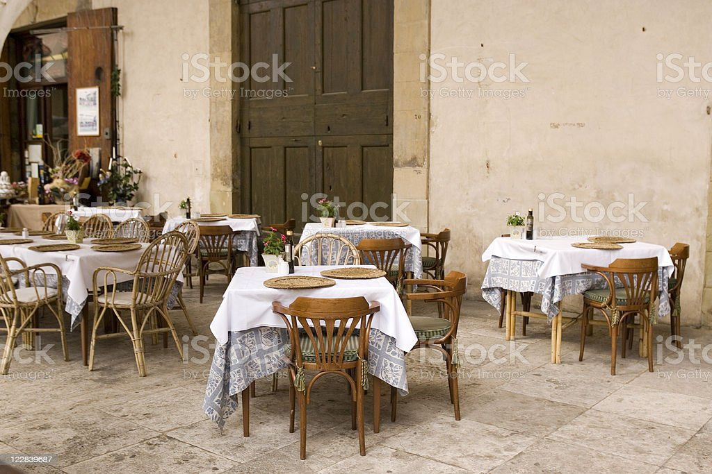 outside dining royalty-free stock photo