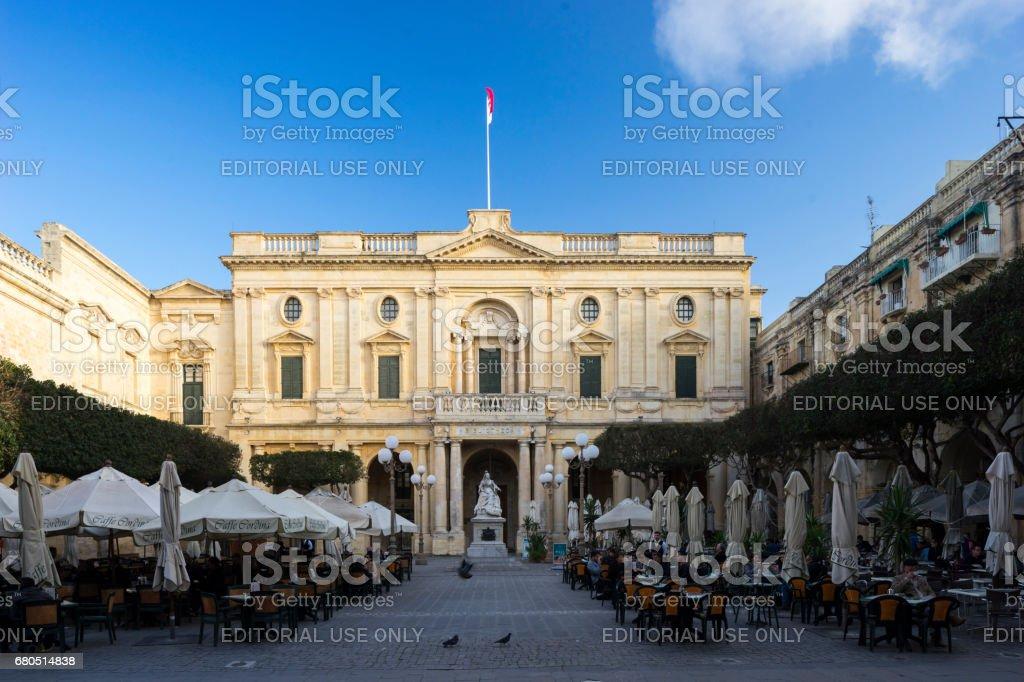Outside Dining, Valletta, Capital City of Malta stock photo