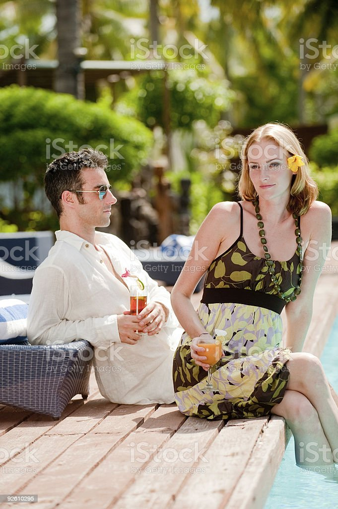 Outside Drinks royalty-free stock photo
