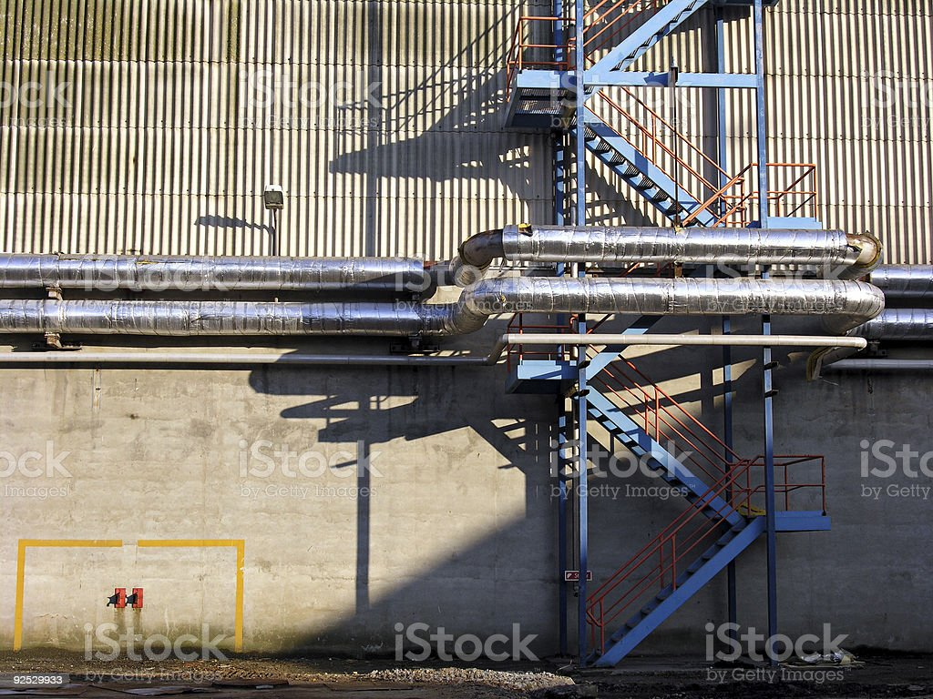 Outside Factory royalty-free stock photo