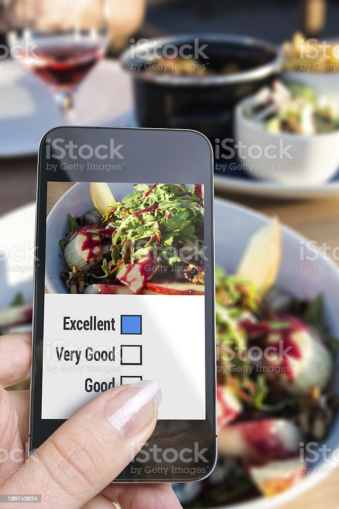 Outside Food Rating Excellent royalty-free stock photo