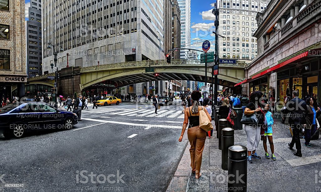 Outside Grand Central Station (wide angle) stock photo