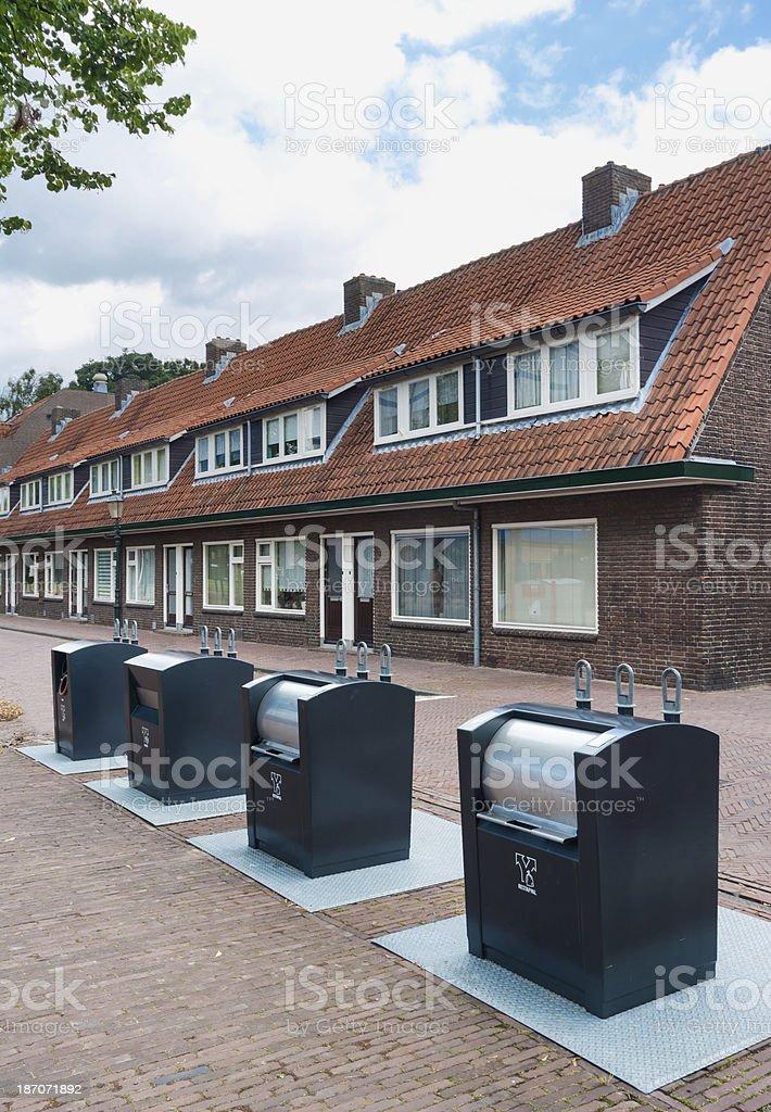 Outside Houses Hofje Armen de Poth stock photo