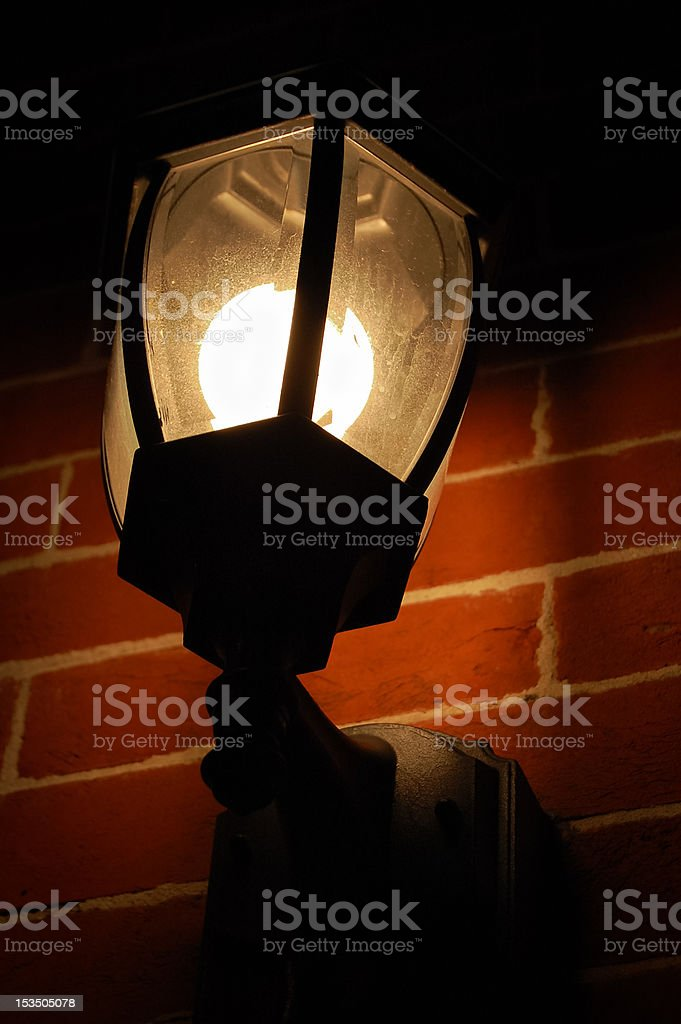 Outside lamp royalty-free stock photo