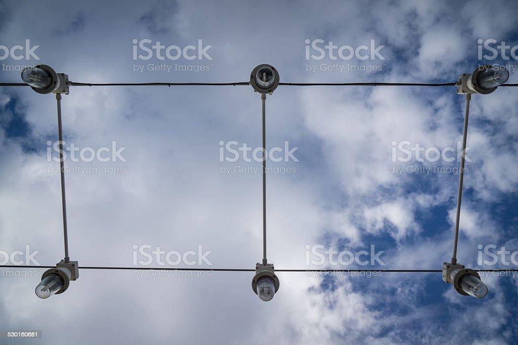 outside lights stock photo