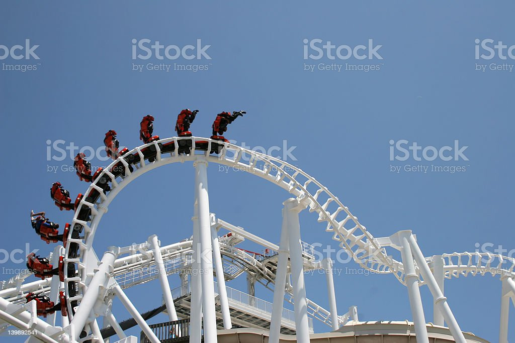 Outside Looping Coaster royalty-free stock photo