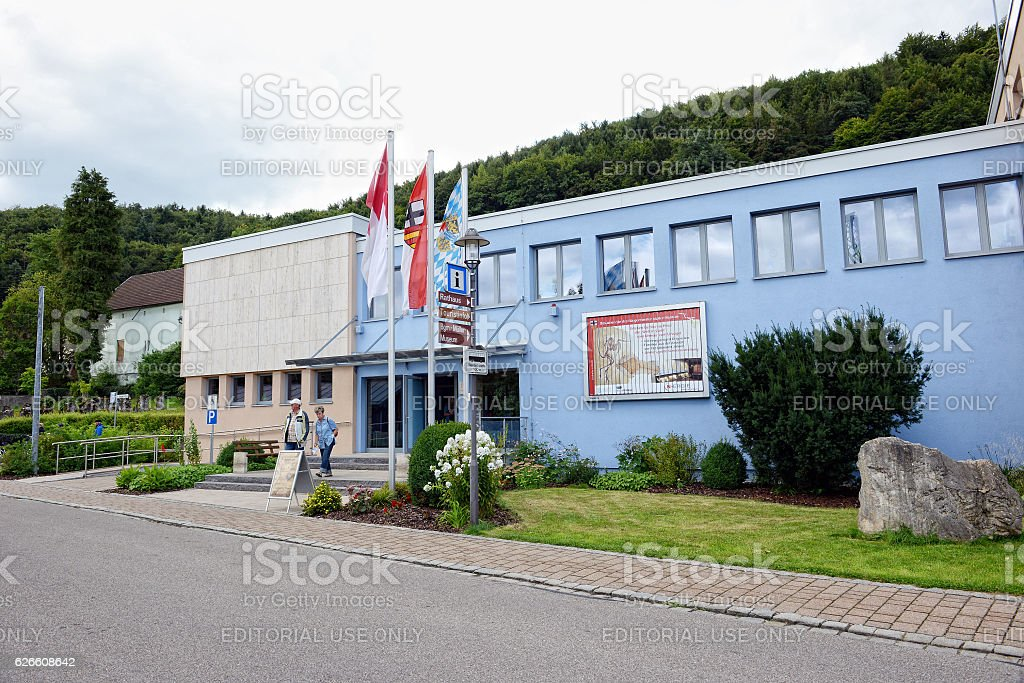 Outside of Museum for fossils found in Solnhofen limestone stock photo