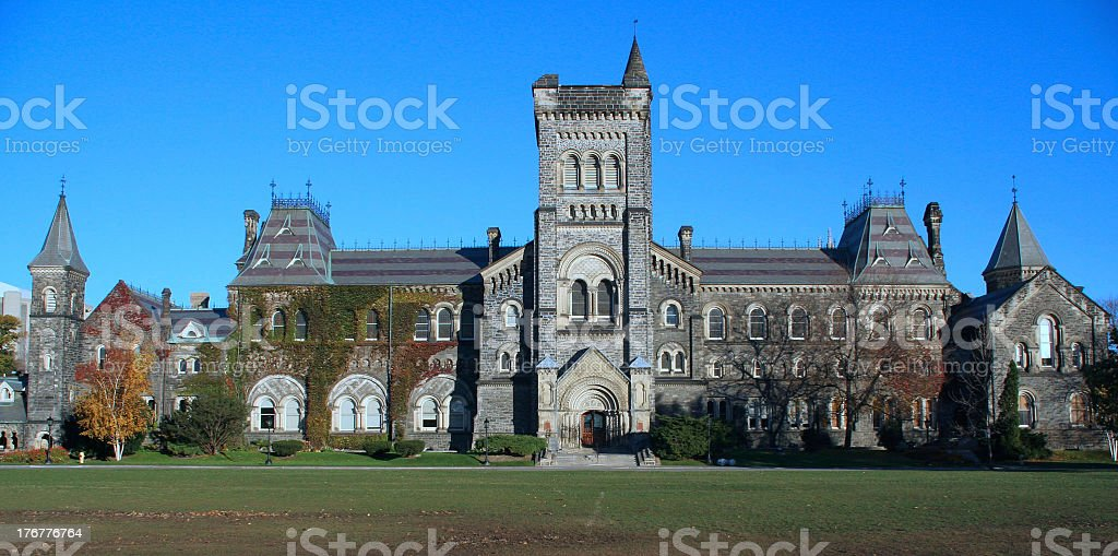 Outside of the University of Toronto in Canada stock photo