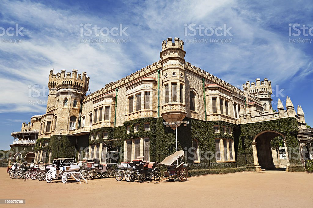 Outside picture of Bangalore Palace, India stock photo