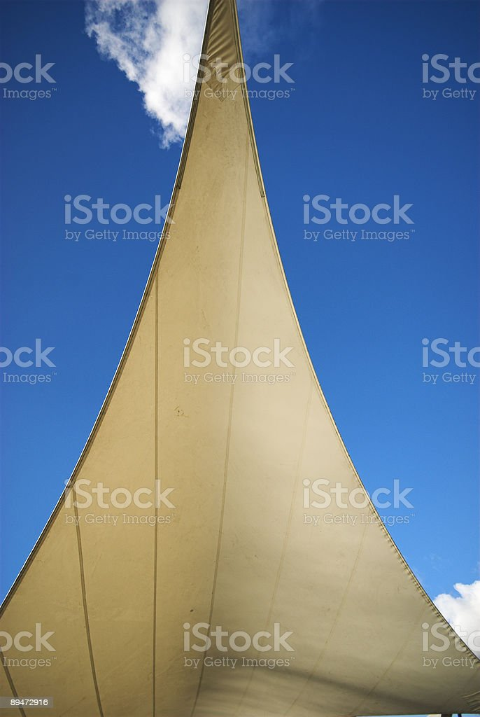 Outside sail canvas construction stock photo
