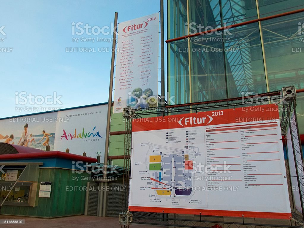 Outside Sign - FITUR 2013 stock photo