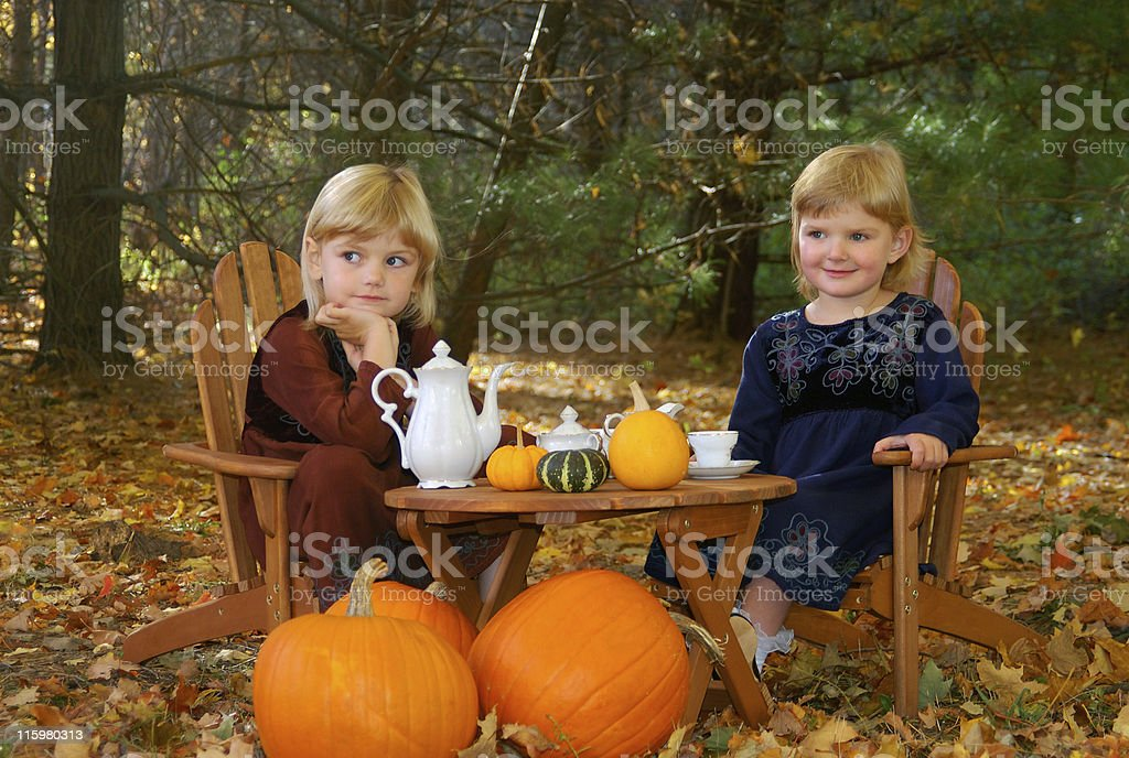 Outside Tea party royalty-free stock photo
