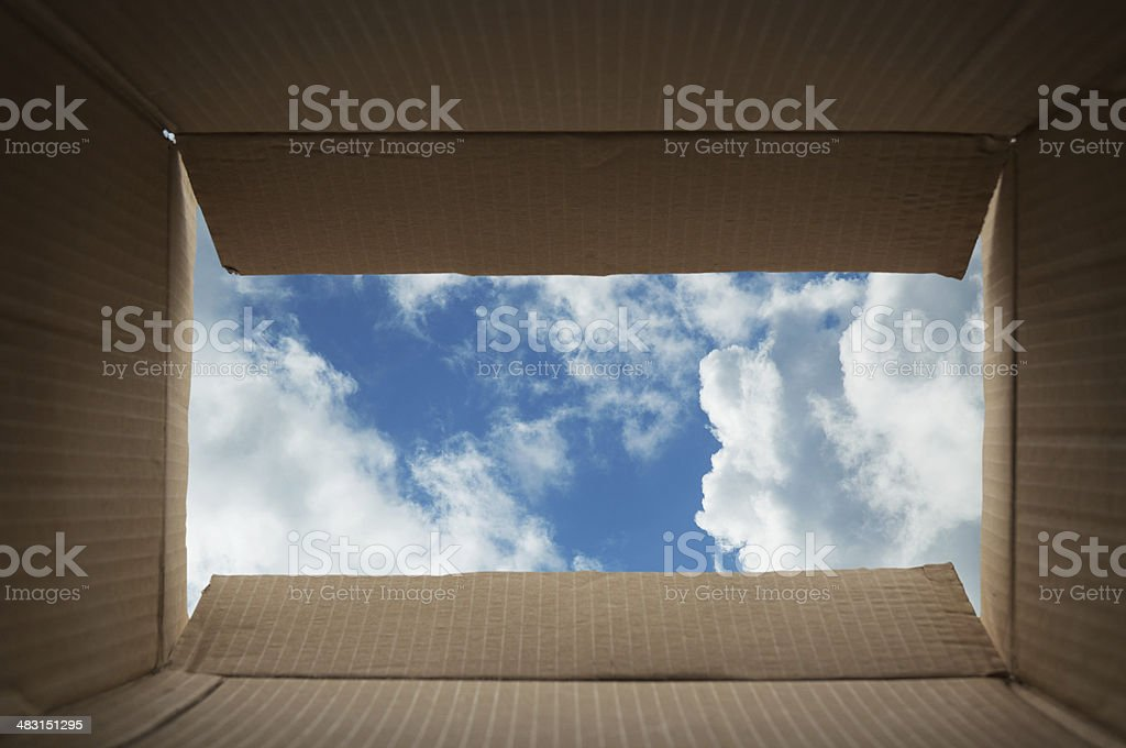 Outside the Box stock photo