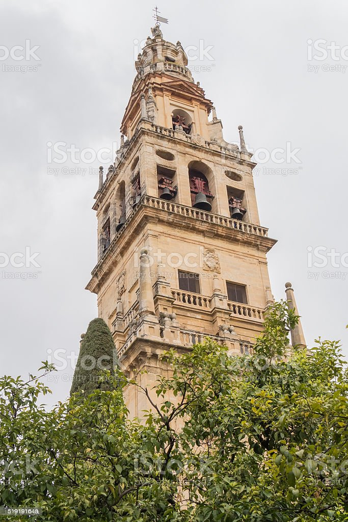 Outside the Cathedral of Cordoba Mosque, Spain stock photo
