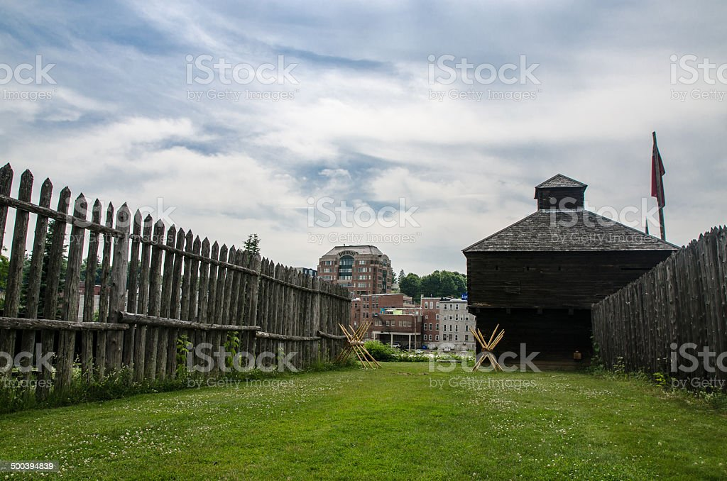 Outside the Old Fort Western royalty-free stock photo