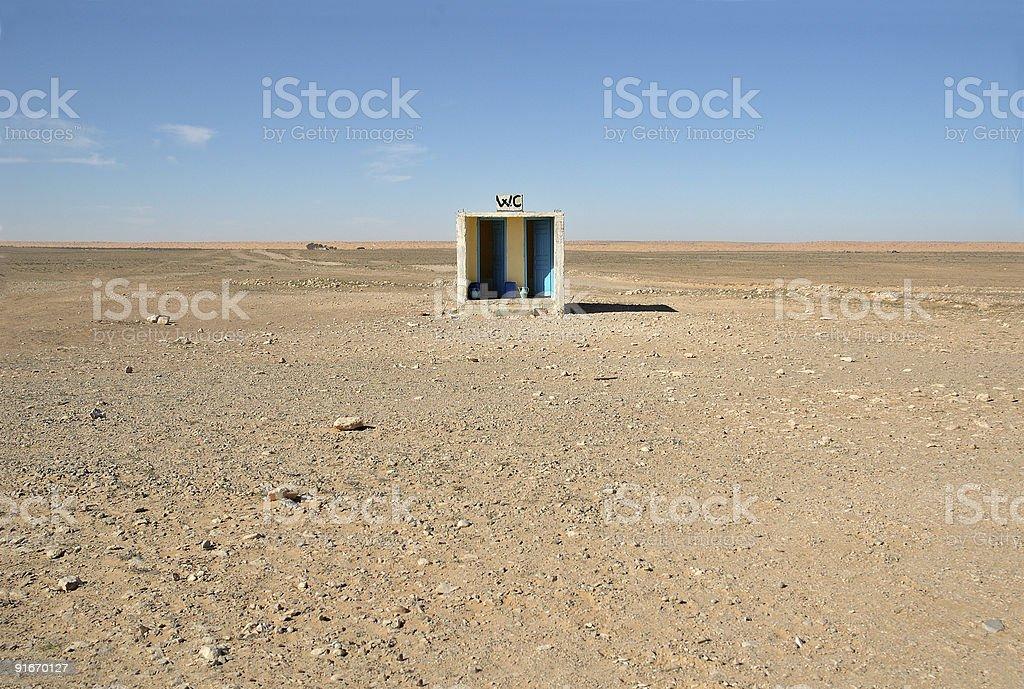 Outside toilet in desert royalty-free stock photo