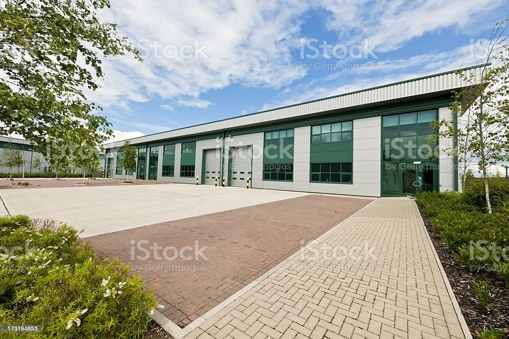 Outside view of modern business units stock photo