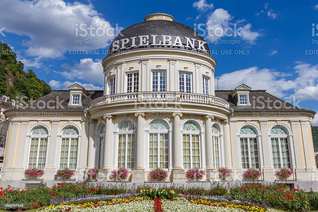 Outside View of Spielbank Casino building in Bad Ems, Germany stock photo