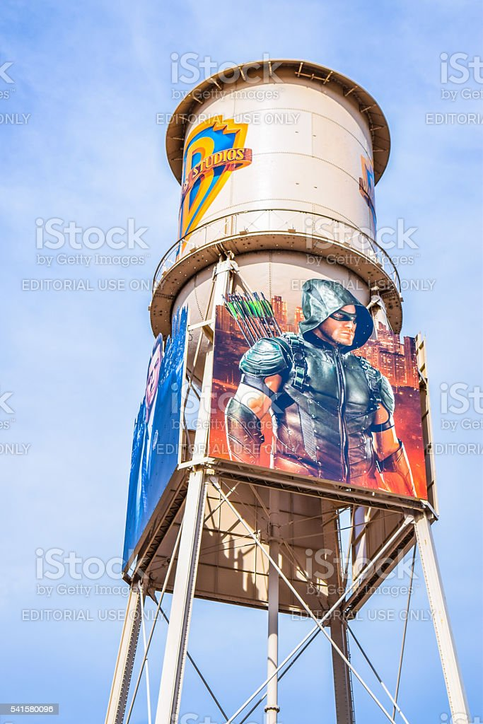 Outside views of the Warner Brothers Studios Buildings stock photo
