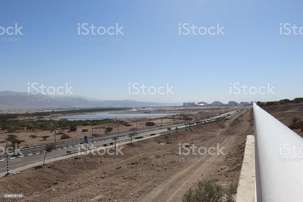 Outskirts of Eilat Israel stock photo