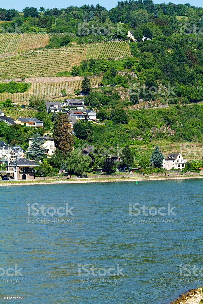 Outskirts of Oberwesel at Rhine stock photo