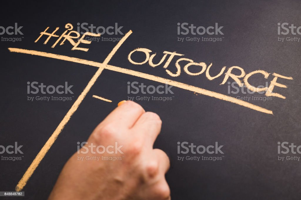 Outsource stock photo